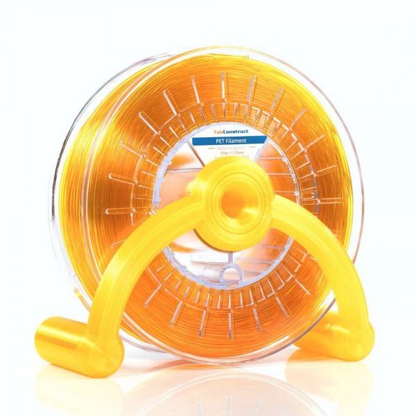 FabConstruct PETG Filament 1,75mm gelb transparent 750g